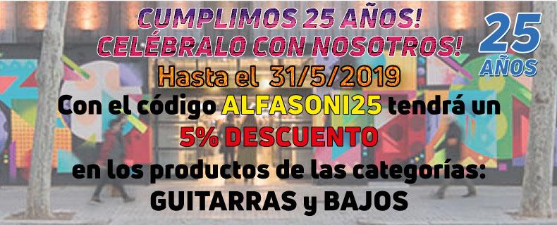 5% Dto con Código ALFASONI25