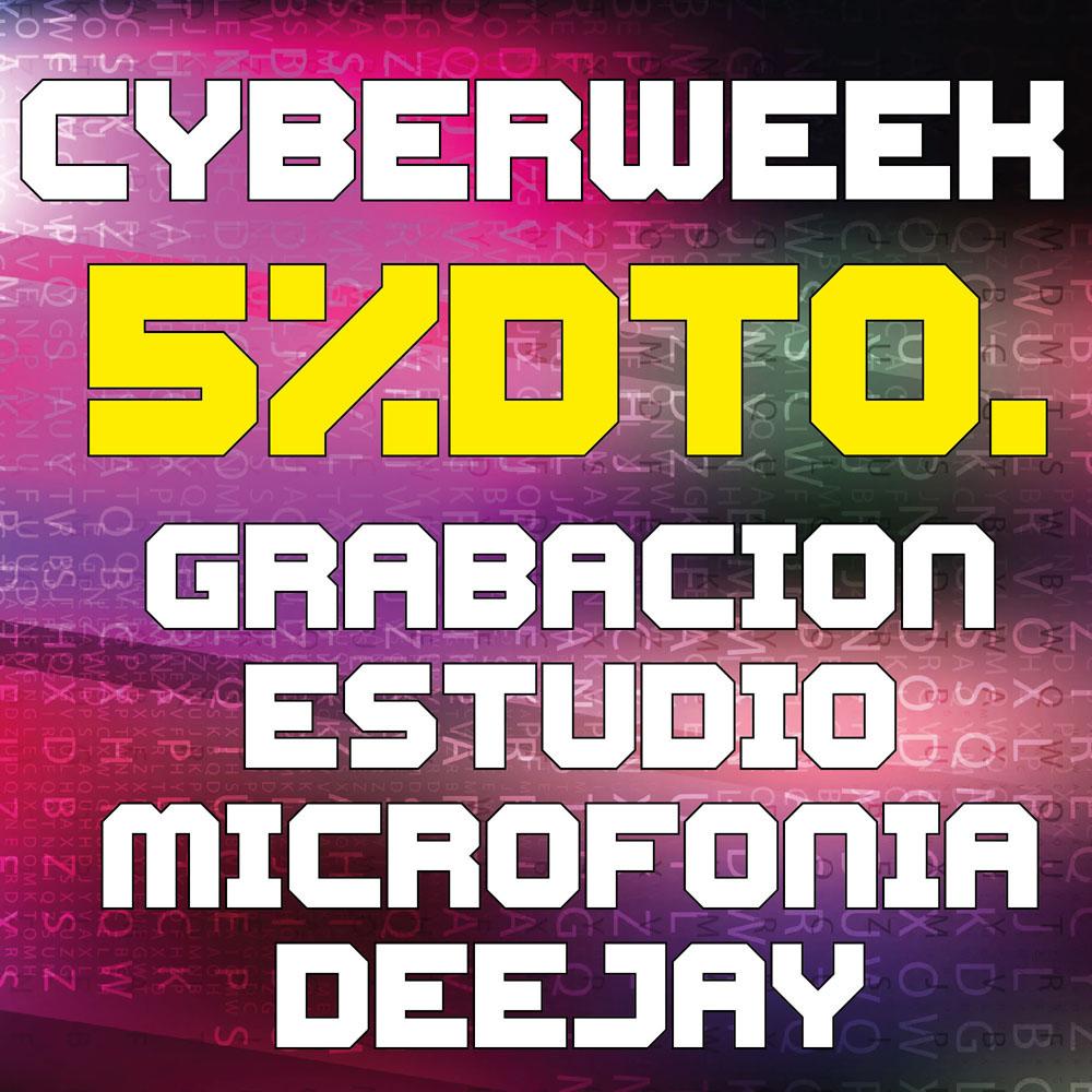 5% Dto con cupón CYBERWEEK en las categorías de Grabación y Estudio, Microfonía y DJ