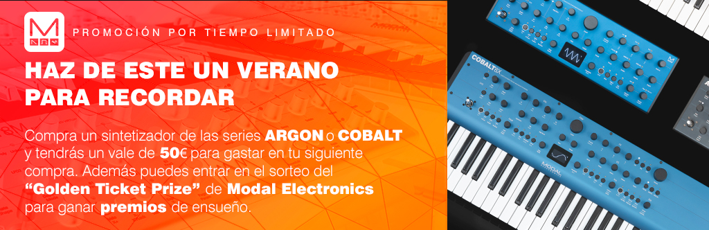 Compra un sintetizador de las series ARGON o COBALT y tendrás un vale de 50€ para gastar en tu siguiente compra