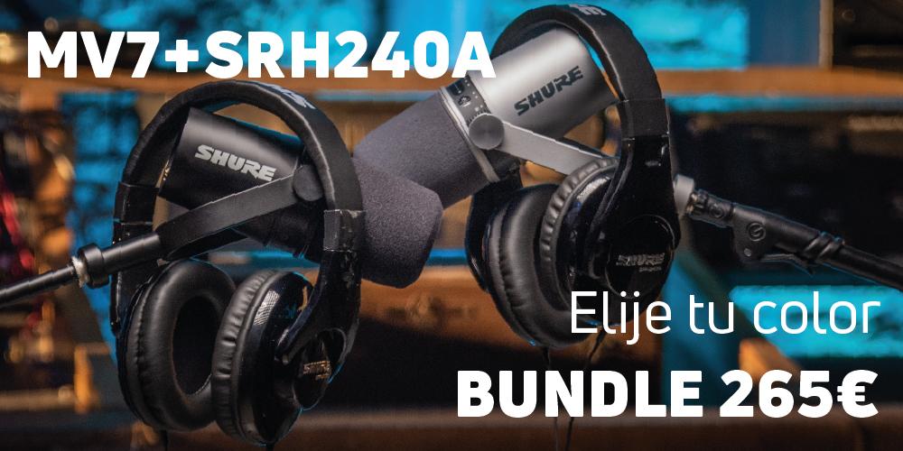 Bundle Micrófono MV7 + Auriculares SRH240A 265€ - Elije tu color