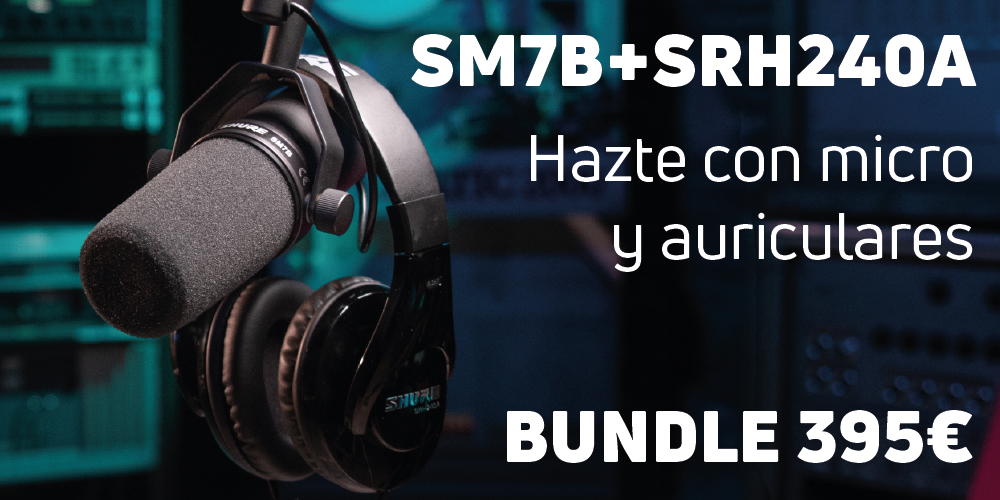 Bundle Micrófono SM7B + Auriculares SRH240A 395€