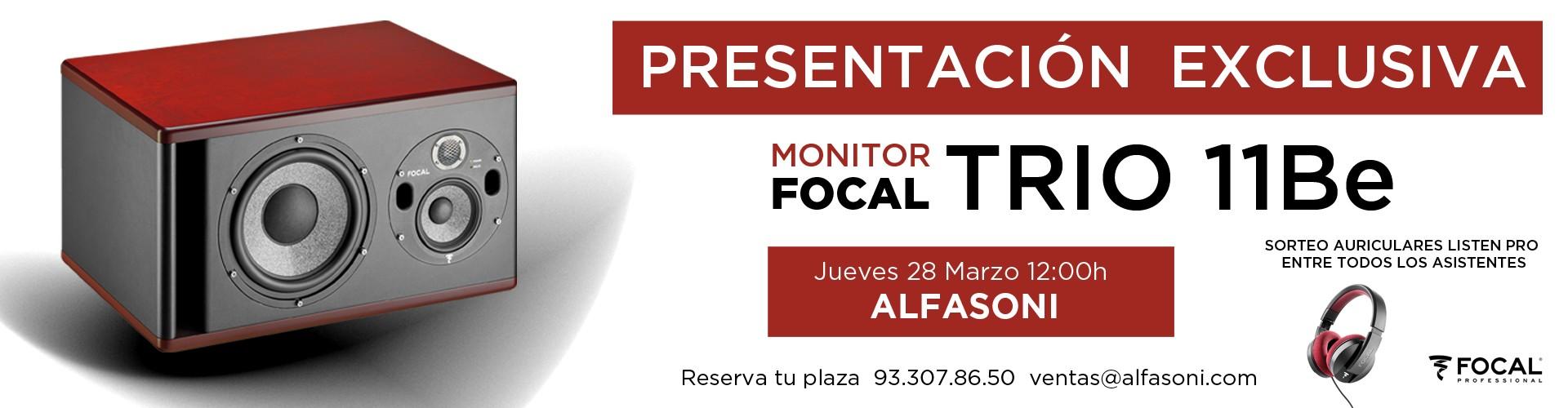 Presentación Monitor Focal TRIO 11Be