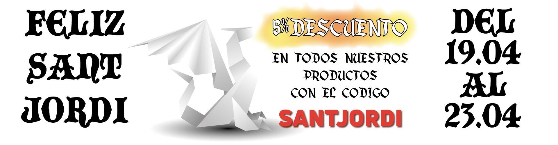 5% Dto en todo - 19 al 23 de Abril - Sant Jordi