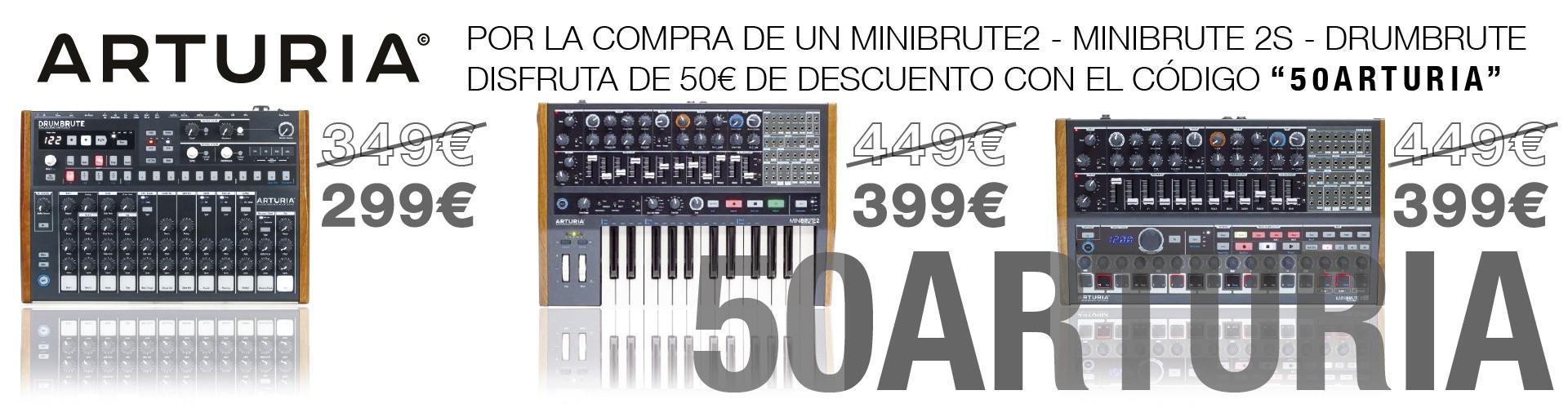 50€ Dto con el código 50ARTURIA por la compra de MINIBRUTE2 - MINIBRUTE2S - DRUMBRUTE