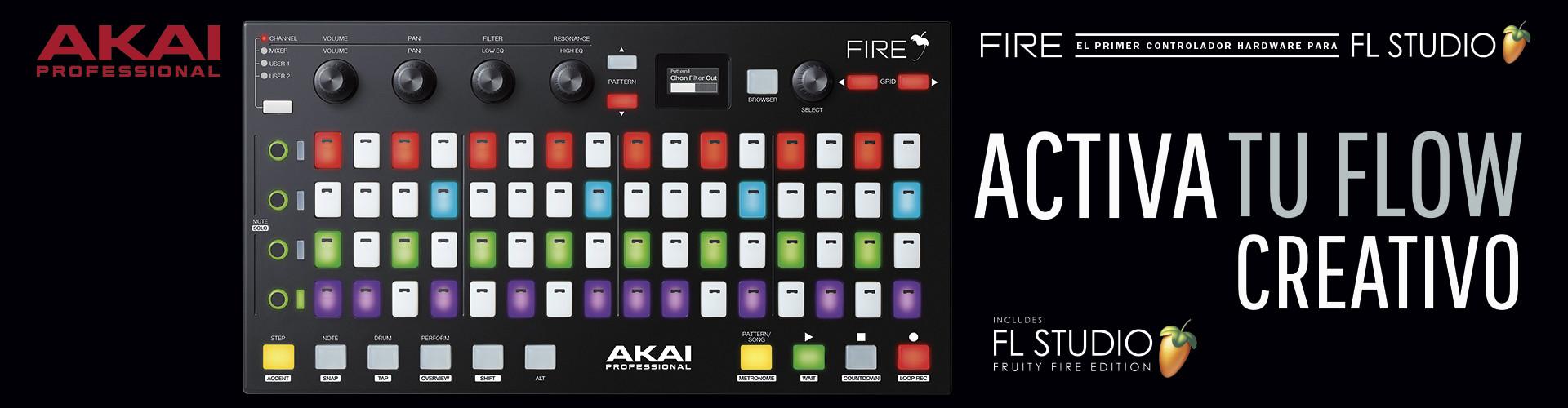 Controlador Akai Fire FL Studio (Fruity Loops)