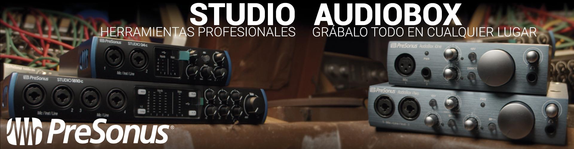 Interfaces de audio Presonus - Studio y Audiobox