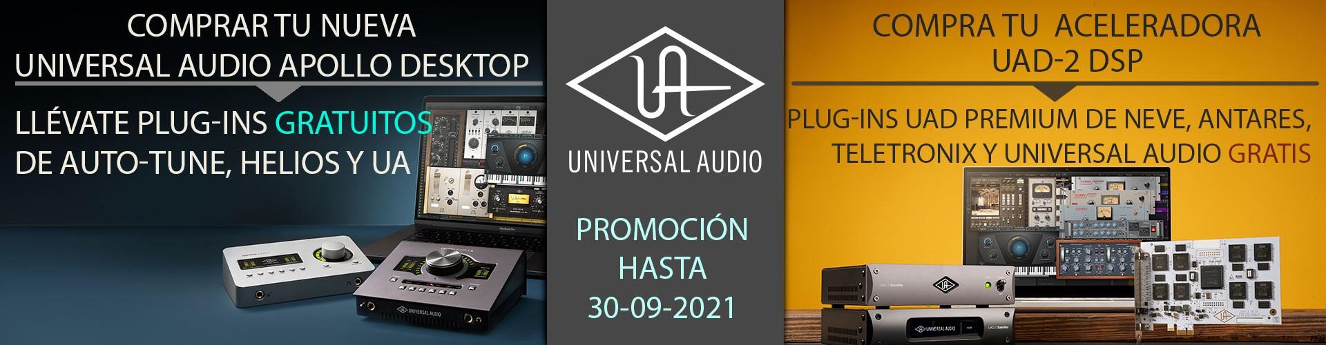 Promociones Universal Audio - Hasta 30 de Septiembre
