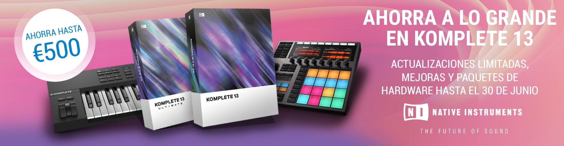 Ahorra hasta 500€ en Updates y Upgrades de Native Instruments Komplete 13
