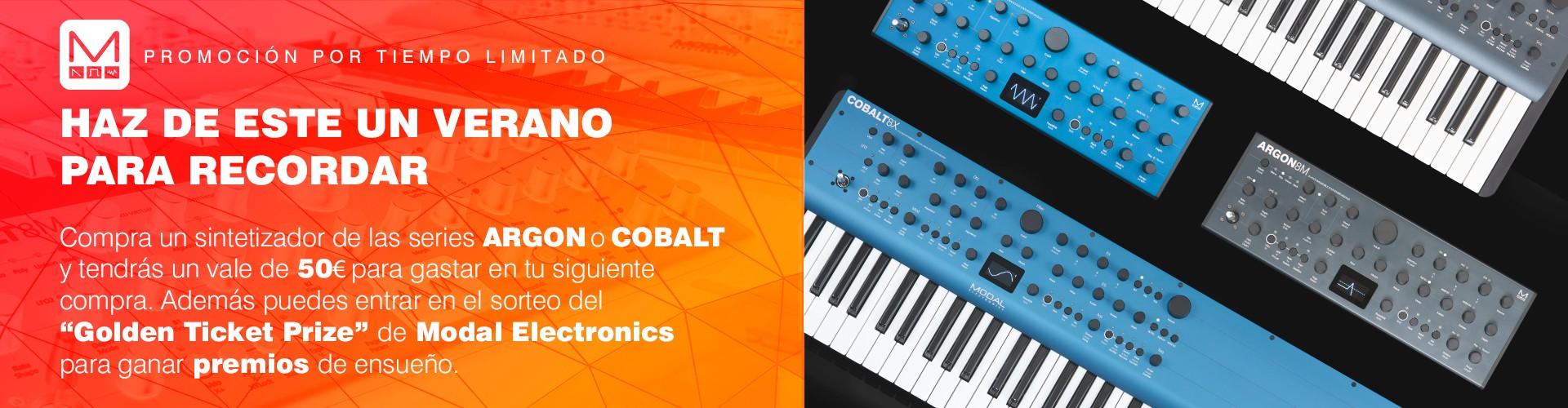 Compra un sintetizador de las series ARGON o COBALT y tendrás un vale de 50€ para gastar en tu siguiente compra - Promoción válida hasta 30/09/2021