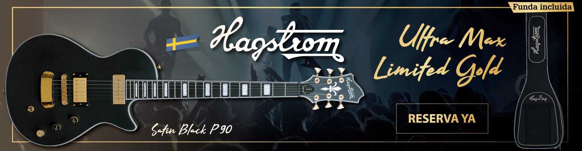Reserva ya tu Hagstrom Ultra Max Limited Gold Satin Black P90